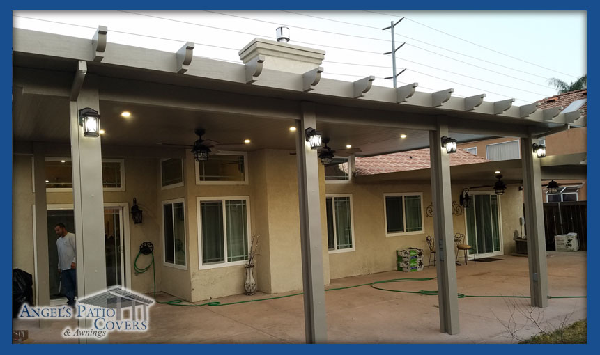 Menifee and Moreno Valley Patio covers alumanwood porch awnings patio cover